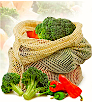 Многоразовые мешки для овощей и фруктов