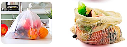 Многоразовые сумки для овощей и фруктов