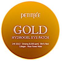 Petitfee, Гидрогелевые патчи для глаз, золото