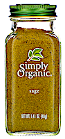 Simply Organic, Шалфей