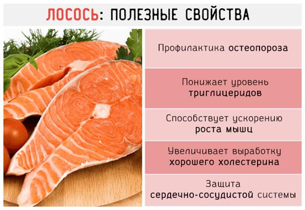 Полезные свойства лосося