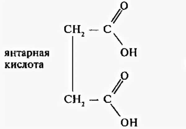 Формула янтарной кислоты